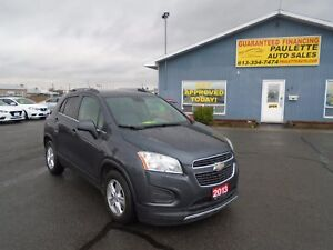 2013 Chevrolet Trax WWW.PAULETTEAUTO.COM GUARANTEED APPROVALS!