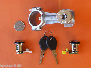 IGNITION-BARREL-STEERING-LOCK-2-DOOR-LOCKS-SUIT-SUBARU-BRUMBY-DL-GL-LEONE