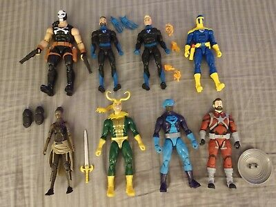 Marvel Legends Lot of 8 figures Fantastic Crossbones Loki