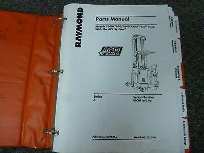 Raymond 7600 7620 7640 Reach-fork Lift Truck W Arc System Parts Catalog Manual