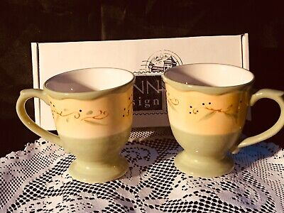 Workshop Of Gerald Henn Pottery, Cottage Garden Cups, New!