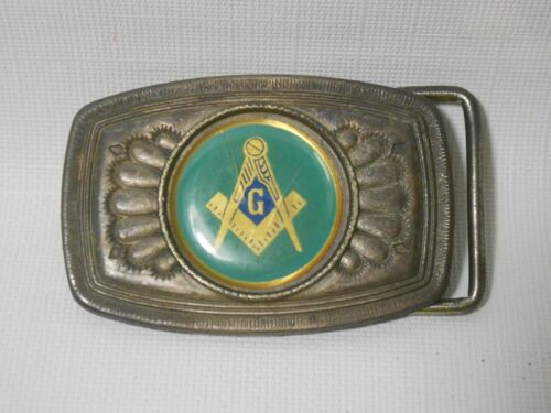 Vintage Freemason Shriners Belt Buckle FREE SHIPPING