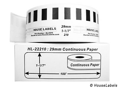 12 Rolls Of Dk-2210 Brother-compatible Continuous Labels Bpa Free
