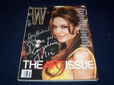 2007 NOVEMBER W MAGAZINE - ANGELINA JOLIE - BEAUTIFUL FRONT COVER - K 374