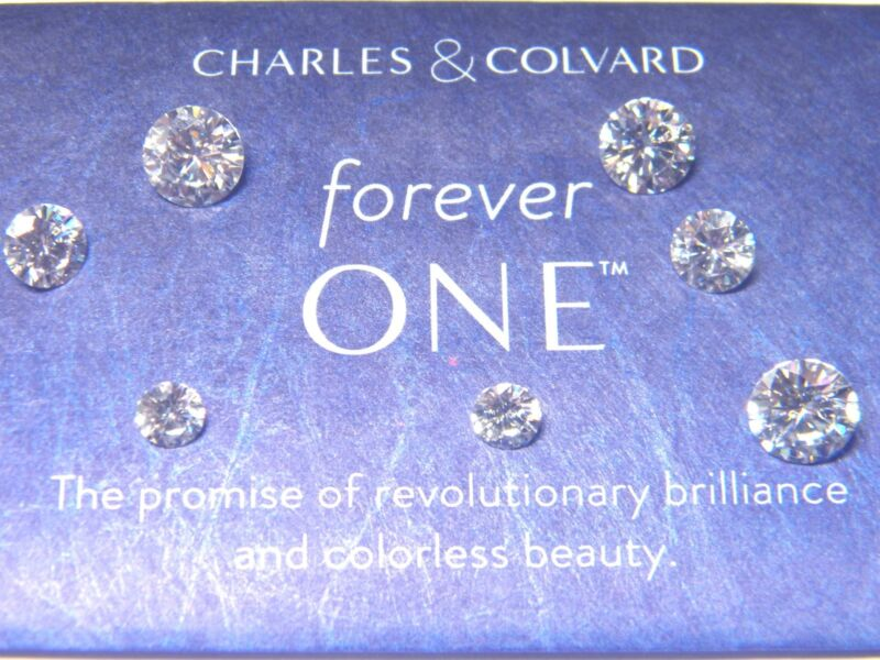 Forever One Moissanite Rnd 1/4 to 3 ct Loose Jewel Charles Colvard Colorless DEF