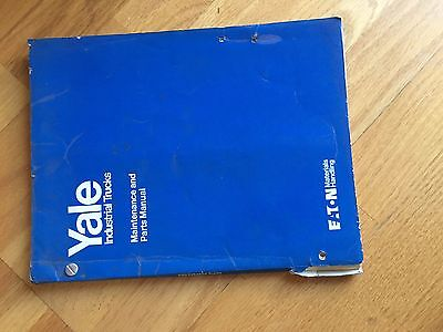 Yale Mp 30 Mpb30 Electric Forklift Parts Maintanence Manual Truck