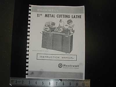 Rockwell 11 Metal Lathe Manual Maintenance Parts