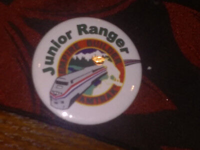 VERY RARE!!  Empire Builder National Park Service/Amtrak Junior Ranger Button