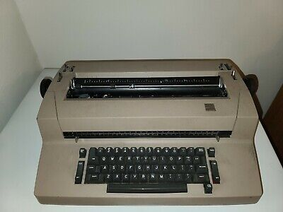 Vintage Ibm Selectric Ii Typewriter Correcting Clean For Parts Powers On