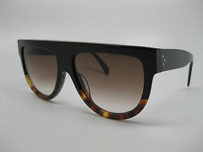 Celine 41026/S Sunglasses FU5 Black Havana Tortoise, 5I Brown Gradient lens, NEW
