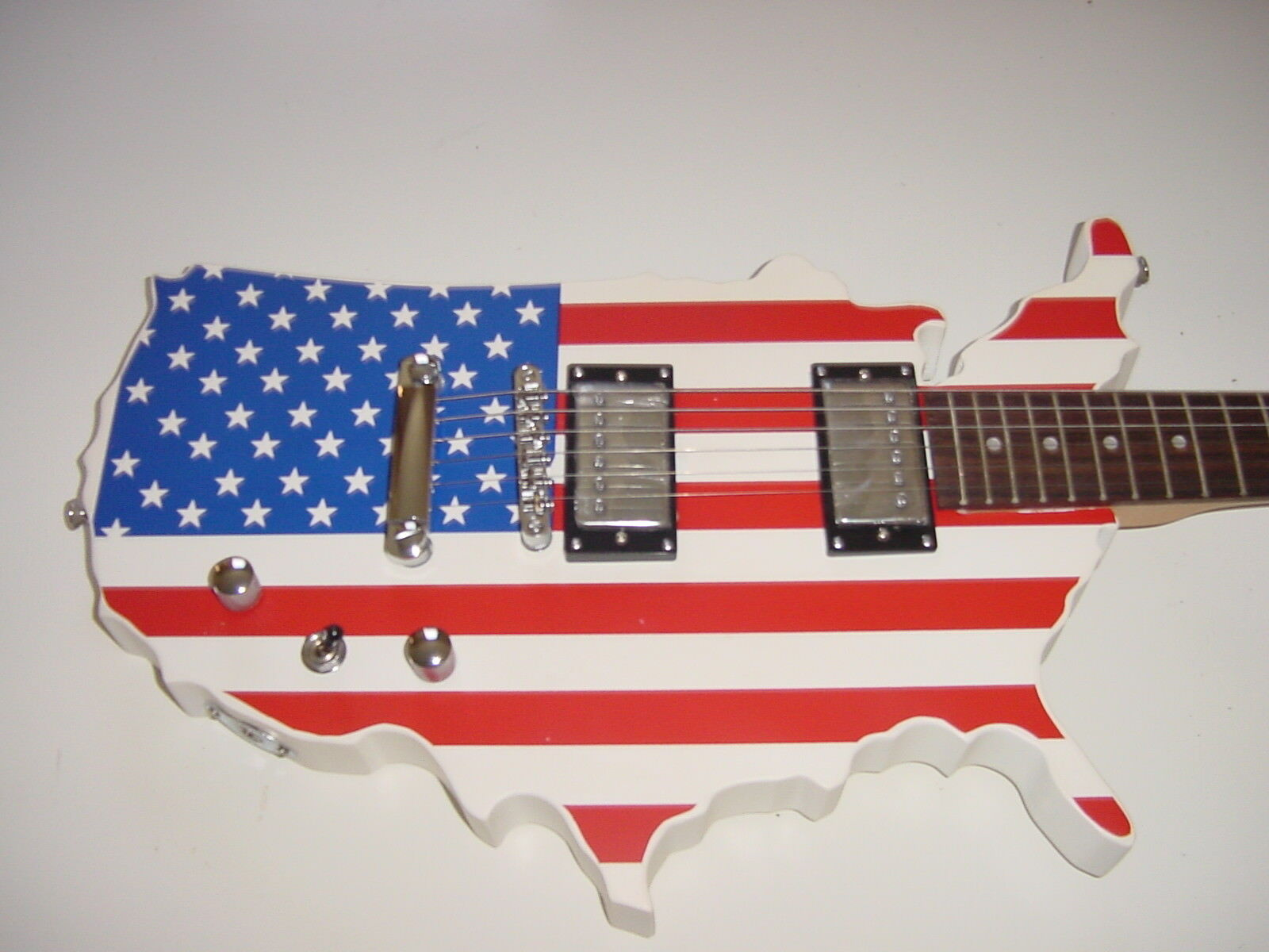 Electric Guitar American Flag USA Cutout 6 String with Gig B