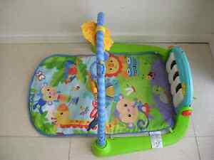 Fisher price kick and play piano play gym mat + baby rocker Baulkham Hills The Hills District Preview