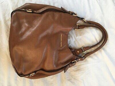 MICHAEL KORS Bedford Large Tan Pebbled Leather Shoulder Bag