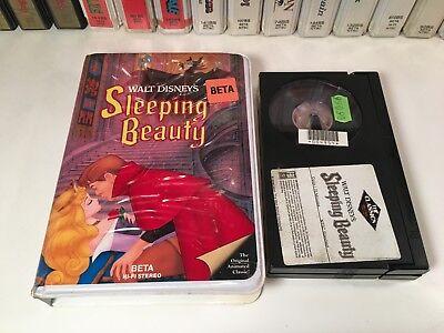 * Sleeping Beauty Family Fantasy Animation Betamax NOT VHS 1959 Walt Disney Beta