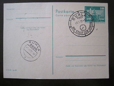 DDR GANZSACHE MINR P 79 RUHLA GESTEMPELT D 123