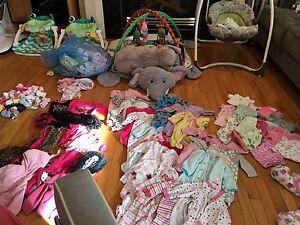 Huge baby girl clothing lot