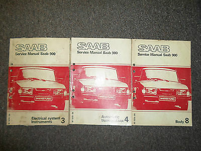 1979 80 81 82 83 1984 Saab 900 Body Auto Transmission Electrical Service Manual