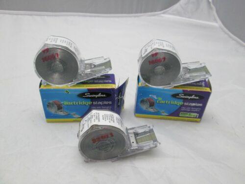 Lot of 3 New Swingline Staple Cartridges 5000 Staples Per Cartridge