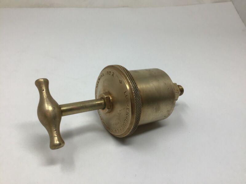 Lunkenheimer Marine No. 2 Brass Grease Cup Lubricator Steam Hit & Miss Engine