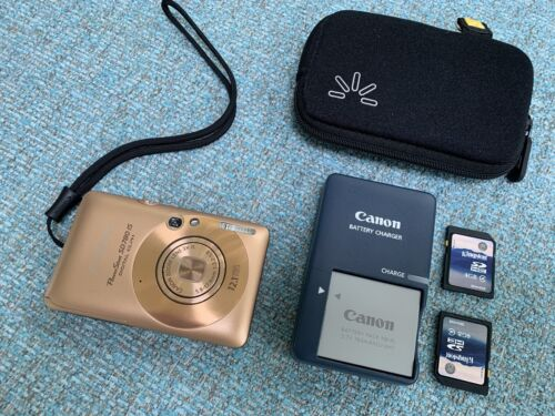 Canon PowerShot SD780 IS Digital Camera 12.1MP Gold / Copper + 2 memory cards