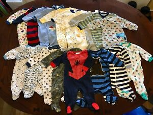 Lot of 0-3 month baby boy clothing
