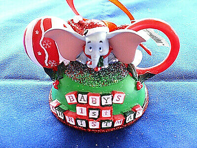 Disney * BABY'S 1st CHRISTMAS - DUMBO * New - EAR HAT - Resin Holiday Ornament