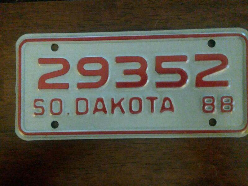 1988 South Dakota Motorcycle License Plate