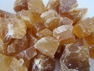 Honey Calcite Rough Stone 40Mm Qty1 Healing Crystal Stamina Strength Energy