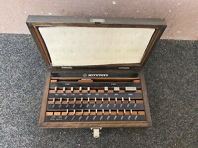 Mitotoyo Gage Block Set Be1-35a 516-915 Grade A In Wooden Case Read