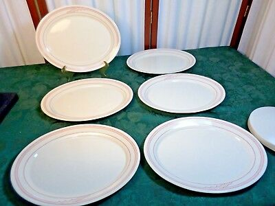 6 Corning Comcor Tableware Decorative Oval Dinner Plates