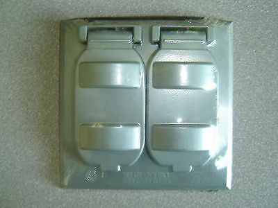 FC-291V, Grey Two Gang Outdoor, Duplex Switch or Duplex Receptacle Cover - Gang Outdoor Switch