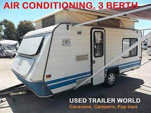 3 BERTH POP TOP CARAVAN WITH AIR COND & INDEPENDENT SUSPENSION. Heathcote Sutherland Area Preview