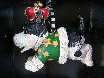 Mary Engelbreit Kurt Adler BLACK & WHITE DOG Ornament NIB