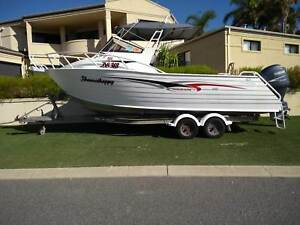 TRAILCRAFT 6.4M ALUMINIUM BOAT