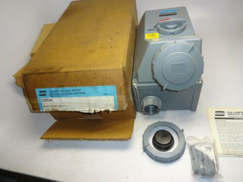 CROUSE HINDS CSR64A COMPACT INTERLOCK ARKTITE RECEPTACLE SWITCH