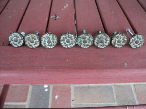 8 VINTAGE FRENCH PROVINCIAL COUNTRY COTTAGE DRAWER KNOB PULLS WITH SCREWS
