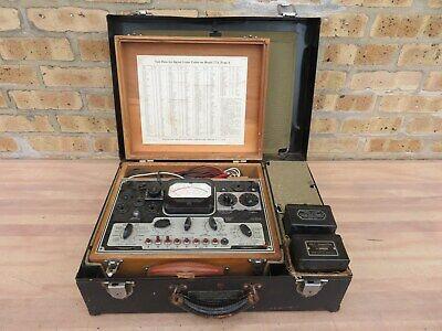 1942 Military Signal Corps Test Set I-56-e Weston 774-4 Tube Tester W Xtras