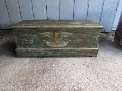 Antique Sea or Sailors Chest Early 1800