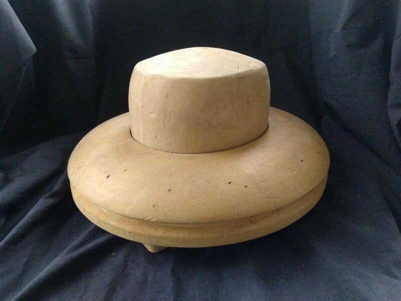 Vintage Wood Hat Mold Millenery