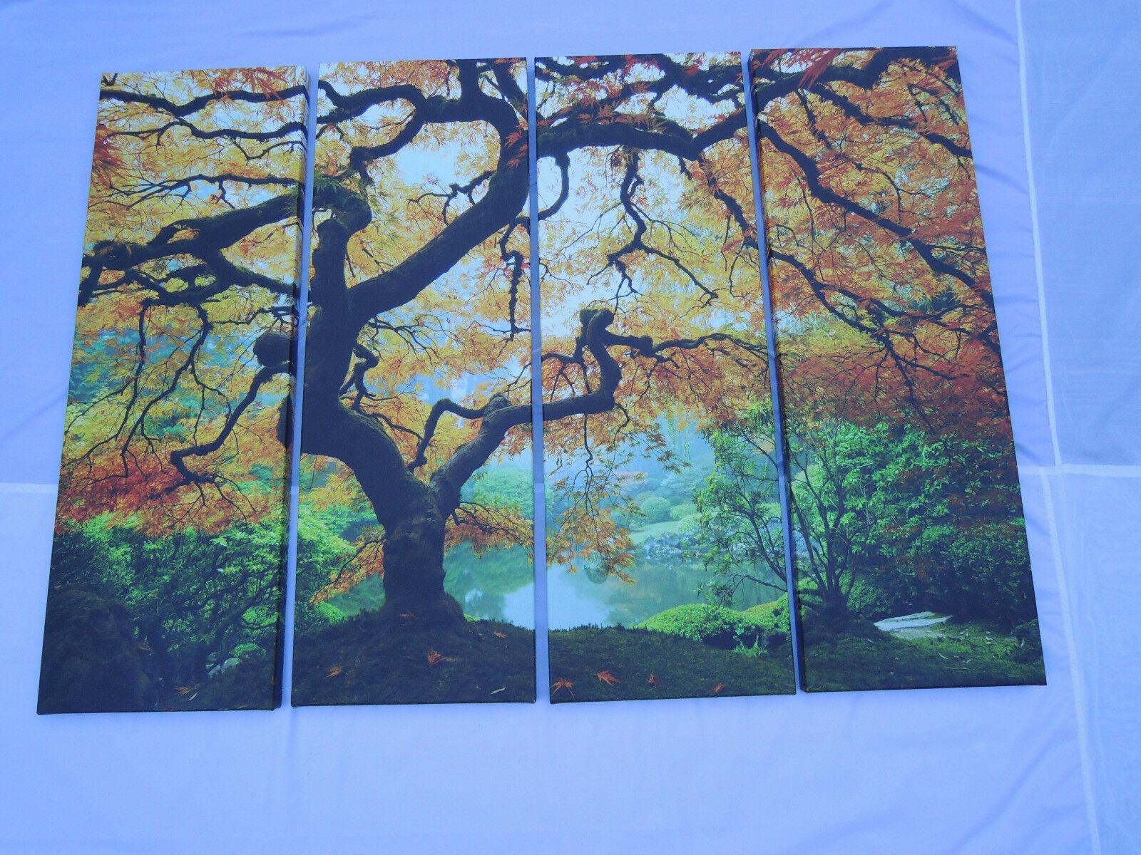 Kanchanaburi Erawan Waterfall 3 Piece Photographic Print On Wrapped Canvas Set For Sale Online Ebay