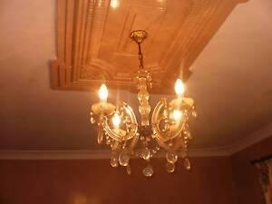 CHANDELIER LIGHTS & FITTINGS --  CHRYSTAL, GOLD, BRASS, SILVER Bunbury Bunbury Area Preview