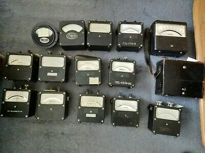 Vintage Volt Ohm Milliammeter Amperes Amp Collection 4 Random Meters