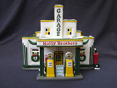 Dept 56 Snow Village Holly Brothers Garage  54854