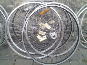 Refurbished bike bicycle wheels, 700 hybrid wide rim front Maribyrnong Maribyrnong Area Preview