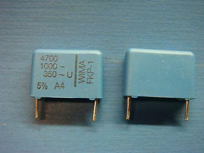 5 Wima Fkp1 470010005 4700pf .0047uf 1000v 5 15mm Pp Film Capacitor
