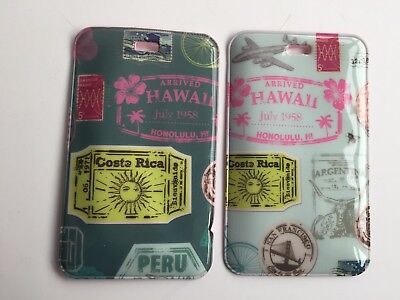 2 x  Travel Suitcase Luggage Tags - Name and Address