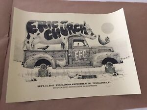 Eric Church Poster Tuscaloosa AL Holdin My Own EFC Silkscreen Gig Print Alabama