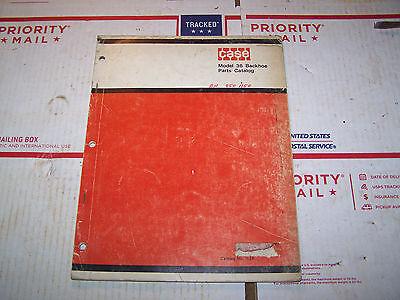 Original Case Tractor Back Hoe Parts Catalog Model 36 Back Hoe
