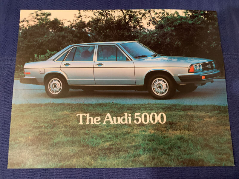 The Audi 5000 Brochure Excellent Original New