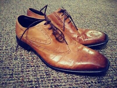 "Men's Jump J75 Brown Leather "" Windsor"" Shoes Size 13 for sale  Boone"